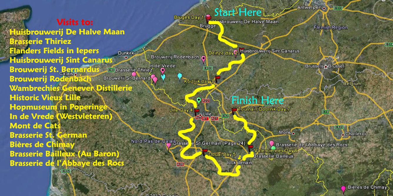 Beet Trip & Beer Tour Through Belgium and France