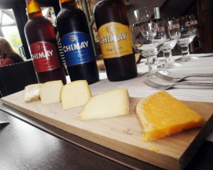 This wonderfully assortment of Chimay cheeses paired fantastically with their brews!