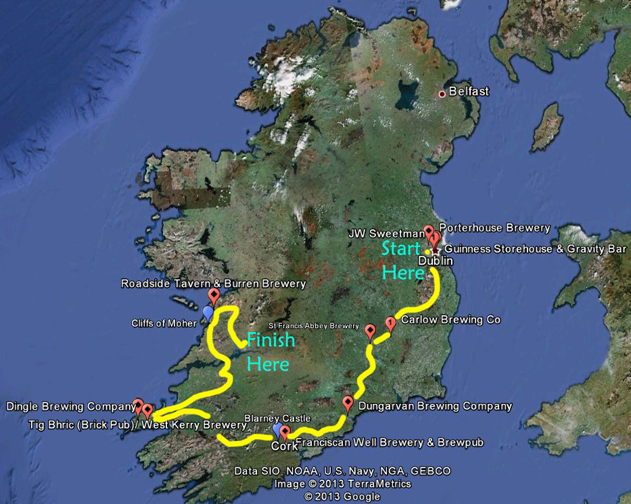 FIU FIU Beer Academy Ireland Day by Day Itinerary