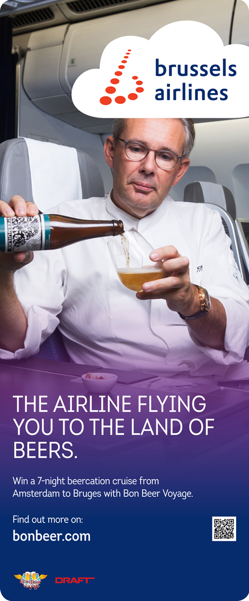 "Brussels Airlines New Campaign- ""The Airline flying you to The Land of Beers."""